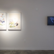 """""""Mirror Mirrored: Art Meets the Monsters,"""" installation view"""