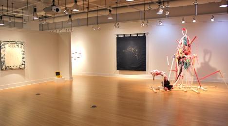 """""""Strange Bedfellows,"""" 2014, Installation view."""