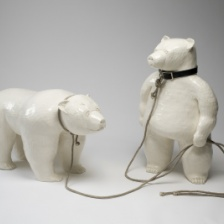 "David Packer, ""Dancing Bears,"" 2009, Glazed ceramic, 44 x 34 x 28 in."