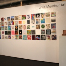 Installation view of WPA Member Wall