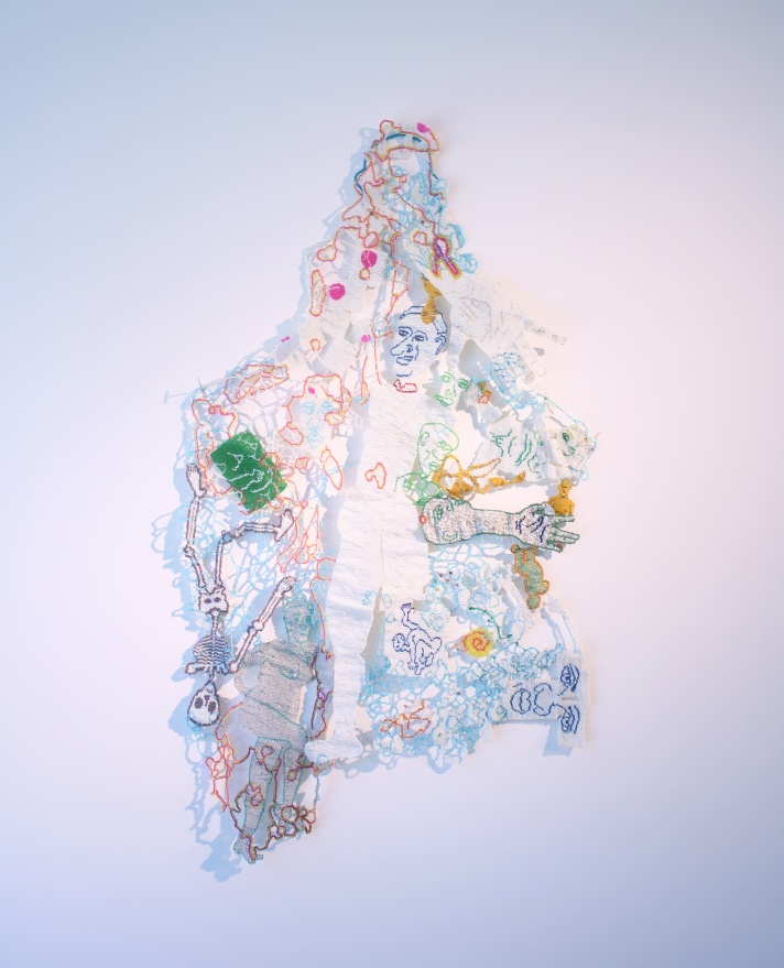 "Joyce J. Scott. ""White Noise Hanging,"" 2010; on view at Washington Project for the Arts. (Joyce J. Scott)"