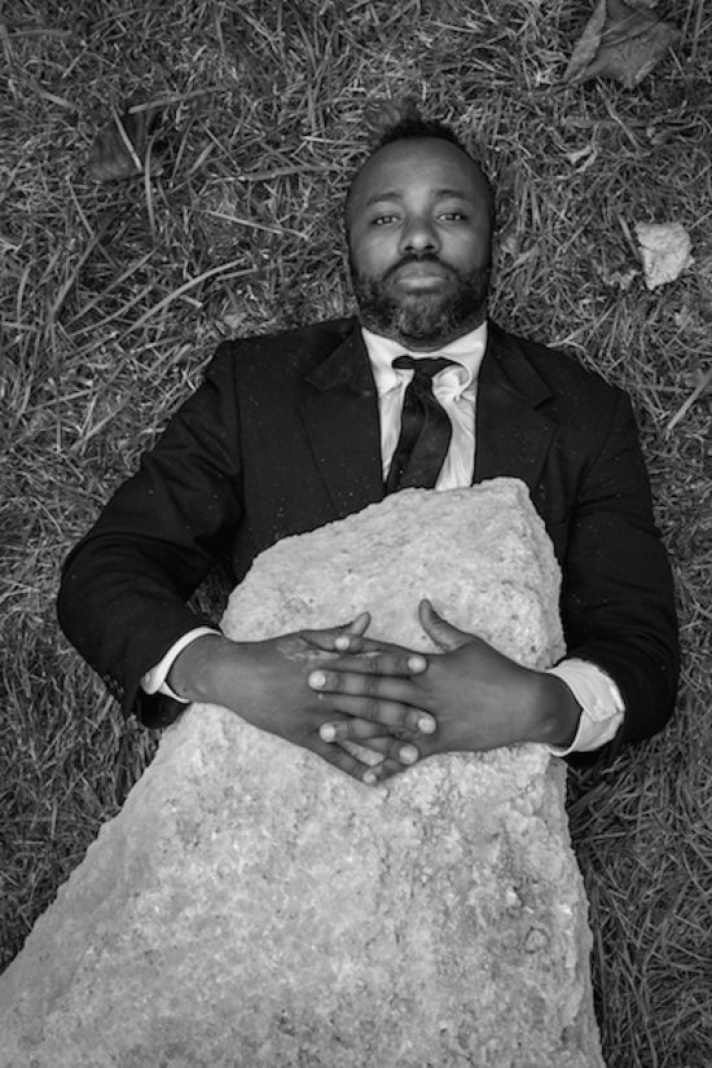 Self Portrait as John Henry (Man), 2014  C-print on archival paper; 26 x 30in.; edition of 10  Photo courtesy of the artist.